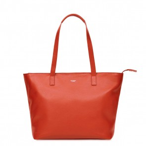 Knomo Dames Leren Laptoptas 13 inch Mayfair Mini Maddox Lava Voorkant