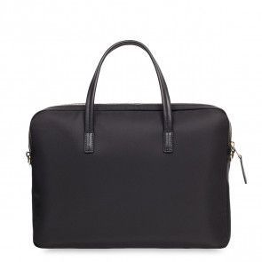 Knomo Hanover Slim Briefcase Black 14 inch Achterkant
