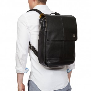 Knomo Hudson Leather Backpack Black 15 inch Model