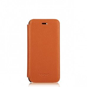 Knomo iPhone 6 Plus Leather Folio Case Brown