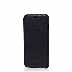 Knomo iPhone 6 Plus Leather Folio Case Black