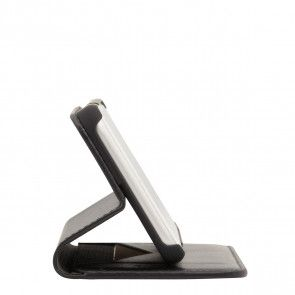 Knomo iPhone 8/7 Plus Hoesje Leather Premium Folio Black Kijkstand