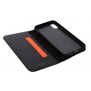 Knomo iPhone X Hoesje Leather Black Open
