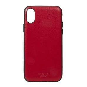 Knomo iPhone X Leather Snap On Case Chili Achterkant