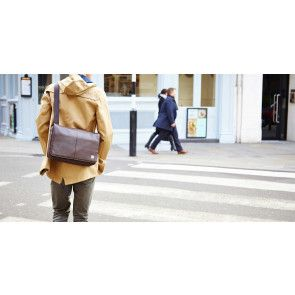 Knomo Kinsale Messenger Brown 13 inch Lifestyle