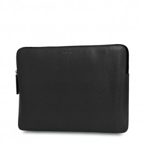 Knomo Laptop Sleeve Embossed Black 13 inch Voorkant