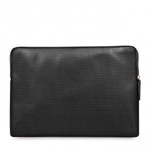 Knomo Laptop Sleeve Embossed Black 15 inch Voorkant