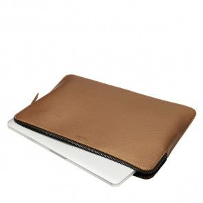 Knomo Laptop Sleeve Embossed Bronze 13 inch Liggend