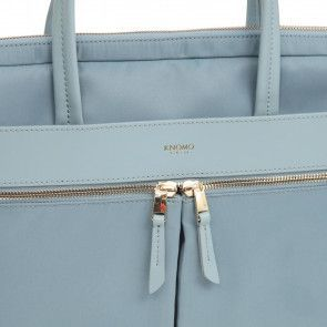 Knomo Hanover Slim Briefcase Sea 14 inch Detail