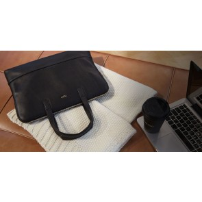 Knomo Reeves Slim Brief Black 14 inch Lifestyle