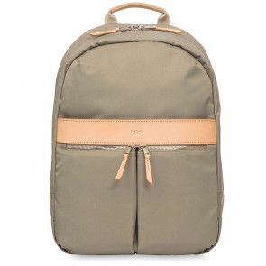 Knomo Beauchamp Backpack Olive 14 inch Voorkant