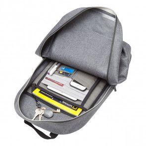 Knomo Harpsden Backpack Grey 14 inch Open