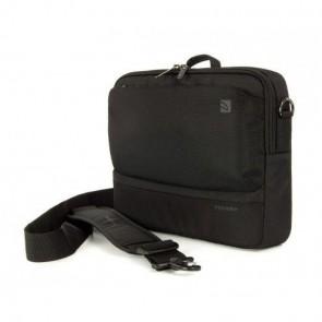 Laptop iPad tas Tucano Dritta Slim MacBook Air 11 inch / Ultrabook 11.6 inch Black Voorkant met schouderband