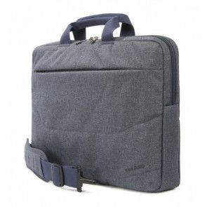 Tucano Linea Notebook Bag 15.6 inch Blue Zijdelings