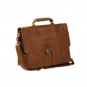 Chesterfield Leren Laptoptas Aktetas 13.3 inch Joe Cognac