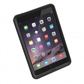LifeProof Frē for iPad Mini 1, 2, 3 Case Black gedraaid voorkant