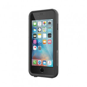 LifeProof Frē for iPhone 6/6S Case Black schuin voorkant rechts