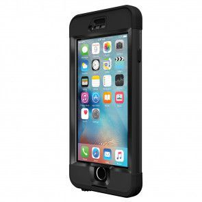 LifeProof Nüüd for iPhone 6S Case Black voorkant schuin rechts