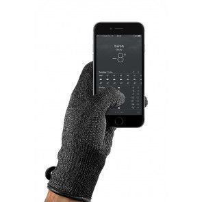 Mujjo Double Layered Touchscreen Gloves Small met smartphone