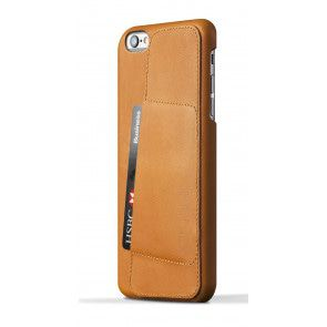 Mujjo Leather Wallet Case 80 iPhone 6 Plus Tan Achterkant