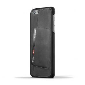 Mujjo Leather Wallet Case 80º iPhone 6/6S Plus Black achterkant