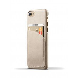 Mujjo Leather Wallet Case iPhone 8 / iPhone 7 Champagne