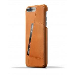 Mujjo Leather Wallet Case iPhone 7 Plus Tan Achterkant