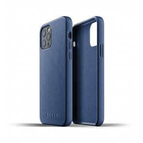 Mujjo Leren iPhone 12 & 12 Pro Hoesje Blauw