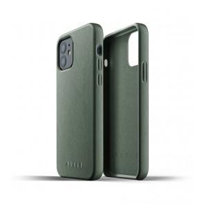 Mujjo Leren iPhone 12 & 12 Pro Hoesje Groen