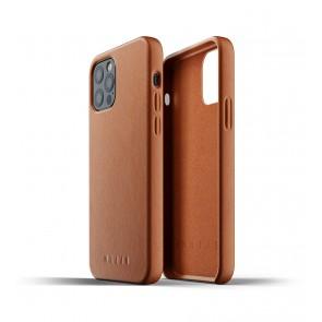 Mujjo Leren iPhone 12 & 12 Pro Hoesje Tan