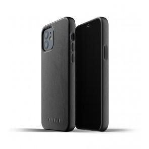 Mujjo Leren iPhone 12 & 12 Pro Hoesje Zwart Achterkant/Binnenkant