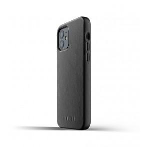 Mujjo Leren iPhone 12 & 12 Pro Hoesje Zwart