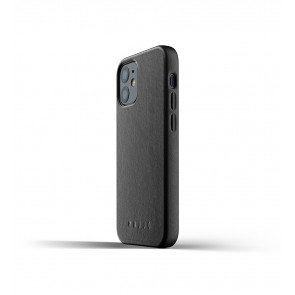 Mujjo Leren iPhone 12 mini Hoesje Zwart