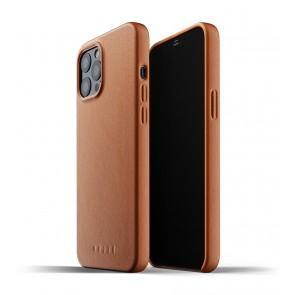 Mujjo Leren iPhone 12 Pro Max Hoesje Tan