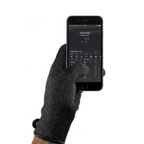Mujjo Single Layered Touchscreen Gloves Medium met smartphone