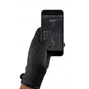 Mujjo Single Layered Touchscreen Gloves Small met smartphone