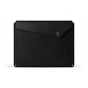 Mujjo Sleeve 13 inch MacBook Air & Pro Retina Black voorkant