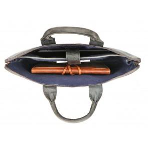 Rat Pack by Orange Fire Leren Handtas/Sleeve 15.6 inch Rat Pack OF 555/15 Blauw Open