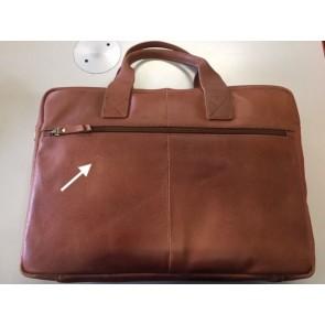 Burkely Leren Laptoptas 15.6 inch Fundamentals Vintage River Worker Cognac - Outlet