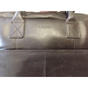 Burkely Leren Laptoptas 17 inch Fundamentals Vintage Max Big Worker Bruin - Outlet