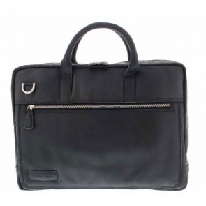 Plevier Business Laptoptas 38 Zwart 17 inch Voorkant