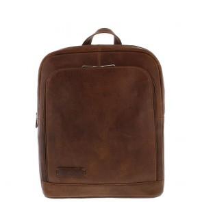 Plevier Business Laptop Rugtas 484 Cognac 15 inch Voorkant