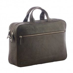 Plevier Business Laptoptas 604 Donkerbruin 12-14 inch Voorkant