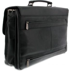 Plevier Leren Aktetas Laptoptas 15 inch Morse 853 Zwart Achterkant