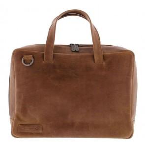 Plevier Pure Business Laptoptas 1 Vaks 705 Cognac 14 inch Voorkant