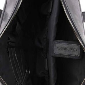 Plevier Pure Dames Laptoptas Zwart 14 inch Binnenkant