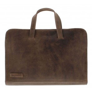 Plevier Pure Laptop Sleeve Taupe 14 inch Voorkant