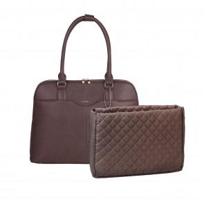 SOCHA Dames Laptoptas Couture Brun 14-15.6 inch met uitneembaar laptopvak