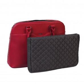 SOCHA Dames Laptoptas Couture Rouge 14-15.6 inch Uitneembaar laptopvak