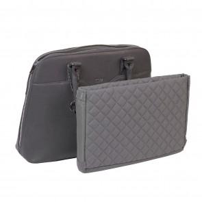 SOCHA Dames Laptoptas Couture Taupe 14-15.6 inch uitneembaar laptopvak